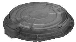 Люк чугунный канализационный легкий тип Л на шарнире